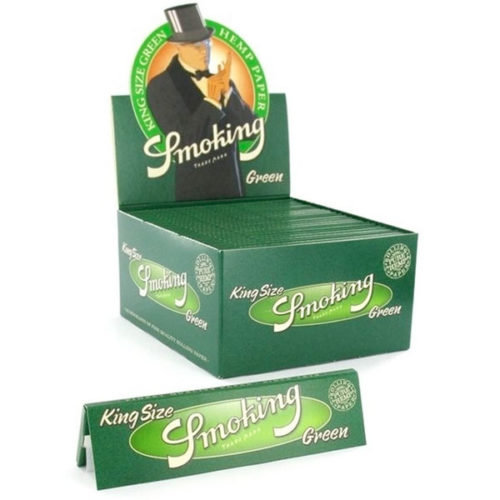 Smoking King size rullpapper | Green